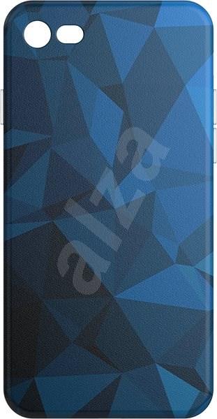 AlzaGuard - iPhone 7/8/SE 2020 - Blue Geometry Madness - Kryt na mobil