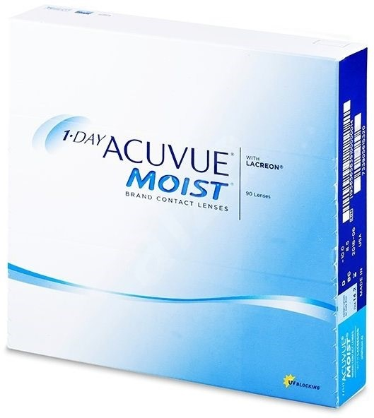 Acuvue Moist 1 Day (90 čoček) dioptrie: +1.25, zakřivení: 8.50 - Kontaktní čočky