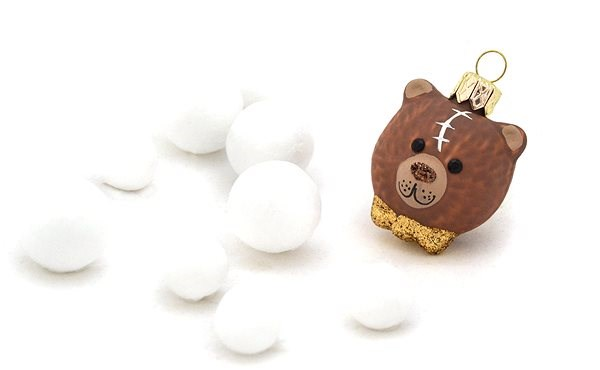 HAN Design Hlava medvídka - Vánoční ozdoby