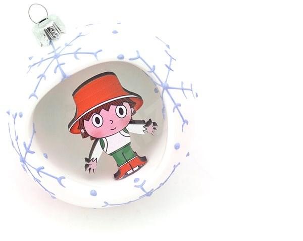 HAN Design Koule 8 cm Cipísek - Vánoční ozdoby