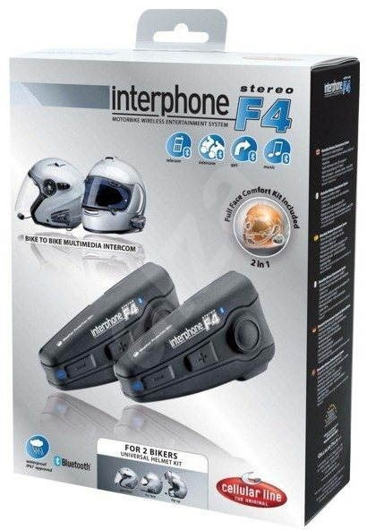 CellularLine Interphone F4 Plus Twin Pack - Hands Free