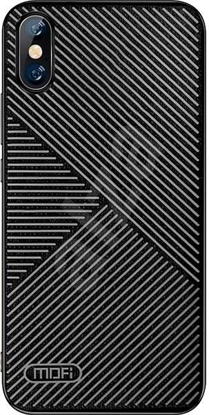 MoFi Anti-slip Back Case Strip iPhone X / XS Černé - Kryt na mobil