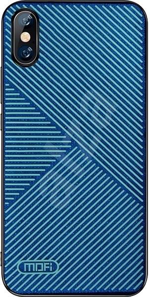 MoFi Anti-slip Back Case Strip iPhone X / XS Modré - Kryt na mobil