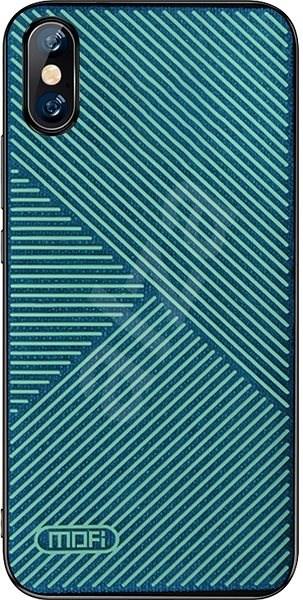 MoFi Anti-slip Back Case Strip iPhone X / XS Zelené - Kryt na mobil