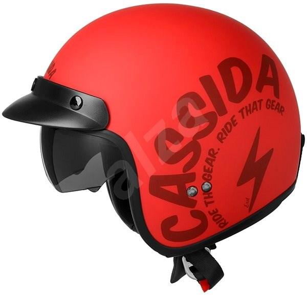 CASSIDA Oxygen Gear (červená matná/černá, vel. XL) - Helma na skútr
