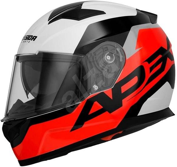 CASSIDA Apex Contrast (červená fluorescentní/černá/bílá/šedá, vel. M) - Helma na motorku