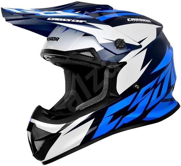 CASSIDA Cross Cup Two modrá/tmavě modrá/bílá, vel. 2XL - Helma na motorku