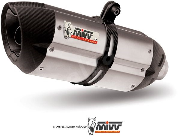 Mivv Suono Stainless Steel / Carbon Cap for BMW R 1200 R (2008 > 2010) - Exhaust Tail Pipe