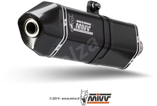 Mivv Speed Edge Black Stainless Steel pro BMW F 800 S / ST (2006 > 2012) - Koncovka výfuku