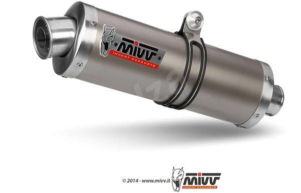 Mivv Oval Titanium Big pro Kawasaki ZX-6 R (1998 > 2001) - Koncovka výfuku