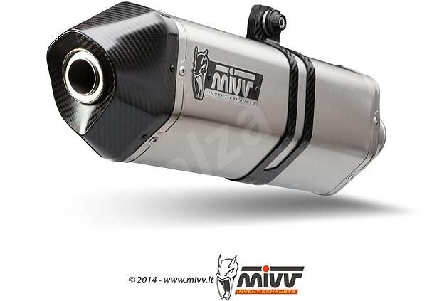 Mivv Speed Edge Stainless Steel / Carbon Cap pro Moto Guzzi Breva 1100 (2005 > 2011) - Koncovka výfuku
