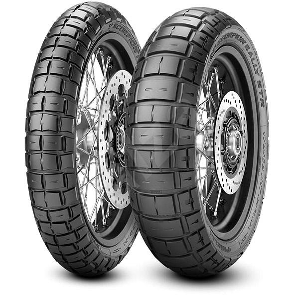 Pirelli Scorpion Rally STR 100/90/19 TL, F 57 V - Motorbike Tyres