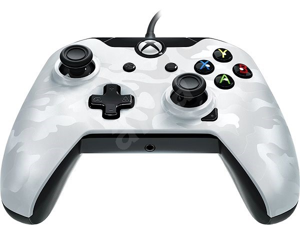 PDP Deluxe Wired Controller - bílá kamufláž - Xbox One - Gamepad