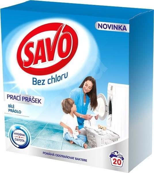 SAVO bílé prádlo 1,4 kg (20 praní) - Prací prášek