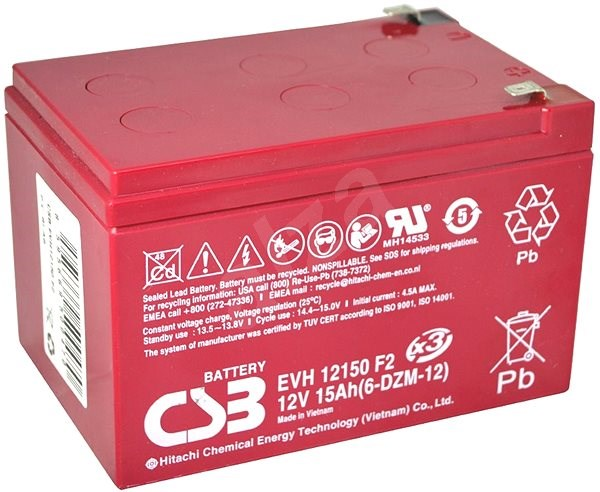 CSB EVH12150, baterie 12V, 15Ah - Trakční baterie
