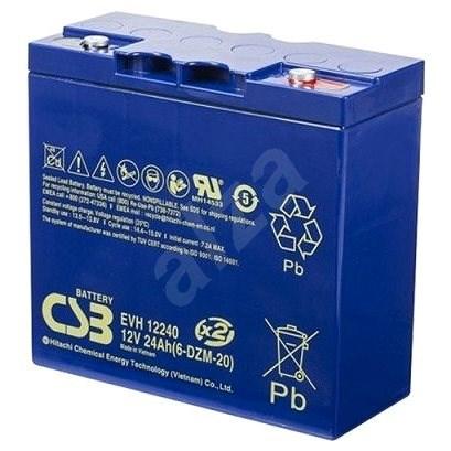 CSB EVH12240, baterie 12V, 24Ah - Trakční baterie