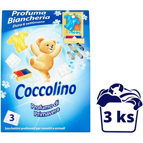 COCCOLINO Primavera vůně do skříně 3ks - Vůně do skříně