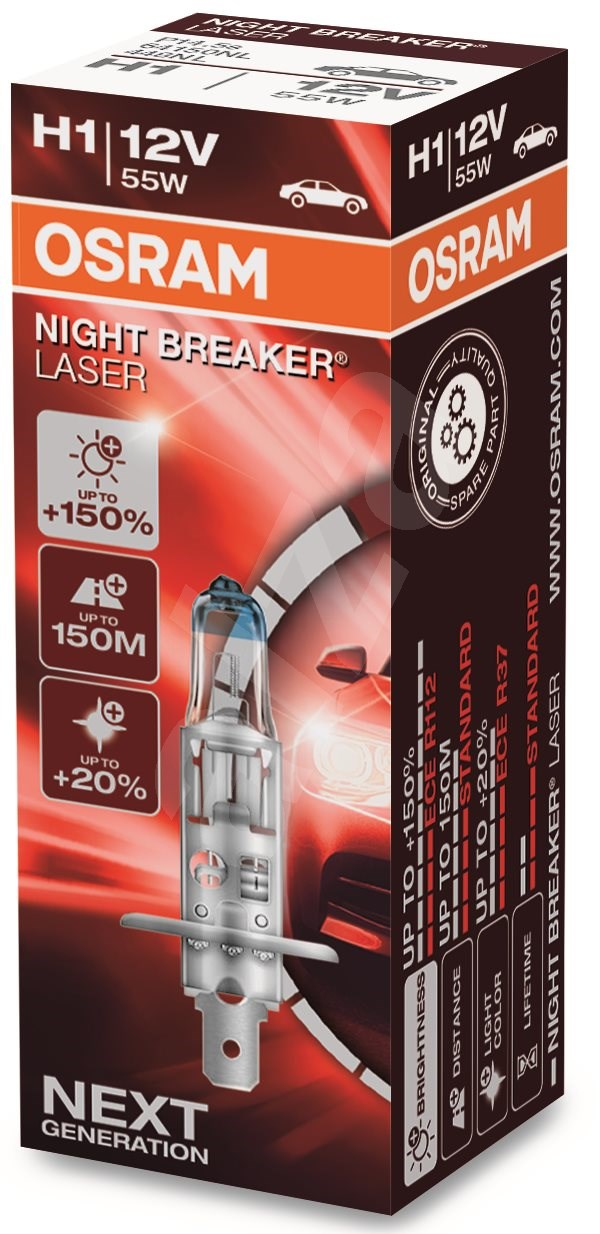 osram h1 night breaker laser next generation 150. Black Bedroom Furniture Sets. Home Design Ideas