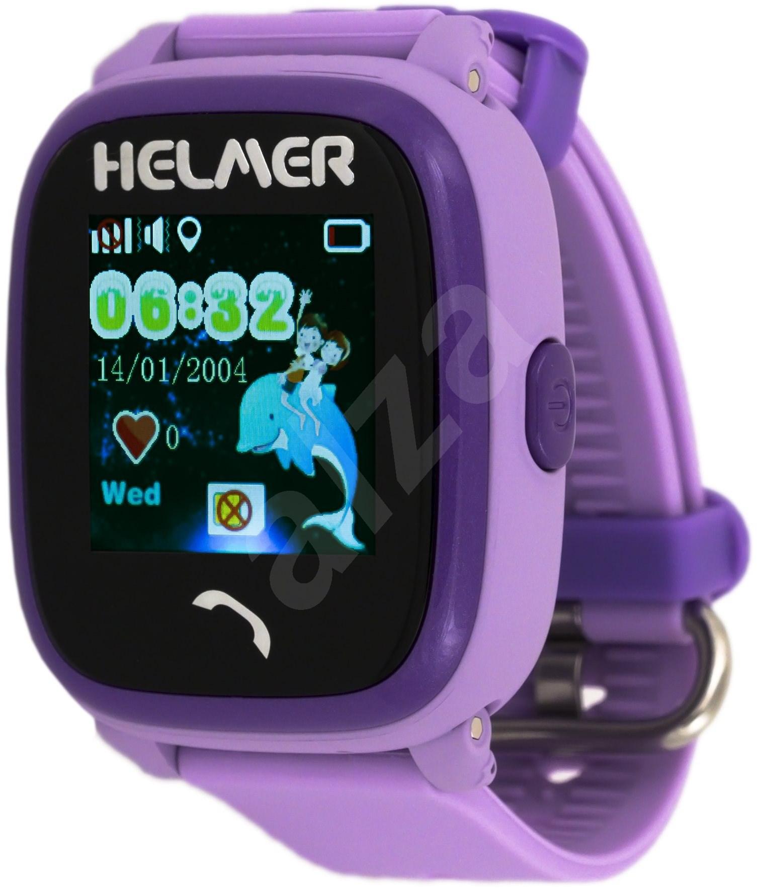 Helmer LK 704 fialové - Dětské hodinky 059568c9cd2
