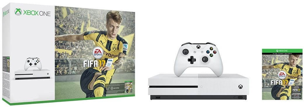 Argos Product Support for Xbox One S 500GB Fifa 17, Just