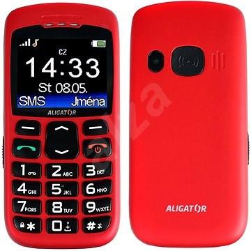 Aligator A670 Senior Red - Mobilní telefon