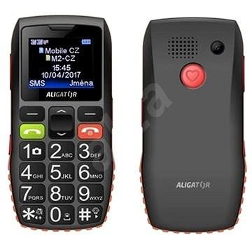 Aligator A440 Senior černo-oranžový - Mobilní telefon