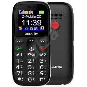 Aligator A510 Senior černý - Mobilní telefon