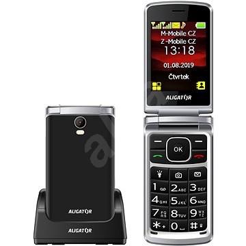 ALIGATOR V710 Senior černá - Mobilní telefon