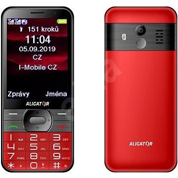ALIGATOR A900 GPS Senior červený - Mobilní telefon