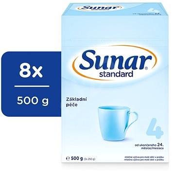 Sunar Standard 4 Batolecí kojenecké mléko 8× 500 g - Kojenecké mléko