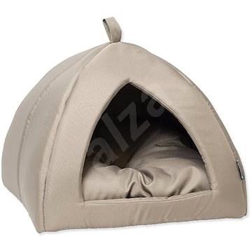 DOG FANTASY kukaň basic 43×43×35cm světle šedá  - Pelíšek pro psy a kočky