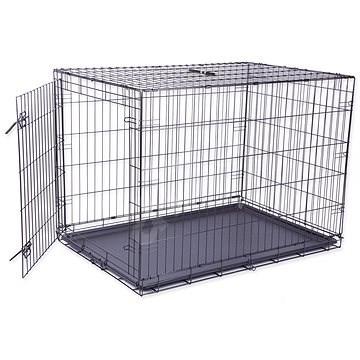 DOG FANTASY klec skládací XL černá 1 dveře - 106,5×76×71cm - Klec pro psa
