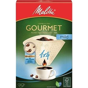 Melitta filtry 1x4/80 Gourmet MILD - Filtr na kávu