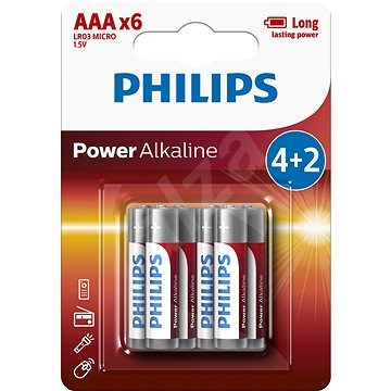 Philips LR03P6BP 6ks v balení - Jednorázová baterie