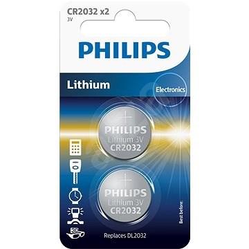 Philips CR2032P2 2ks v balení - Knoflíková baterie
