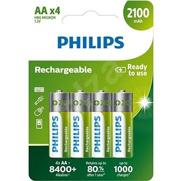 Philips R6B4A210 4 ks v balení - Nabíjecí baterie