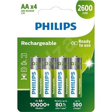 Philips R6B4B260 4 ks v balení - Nabíjecí baterie