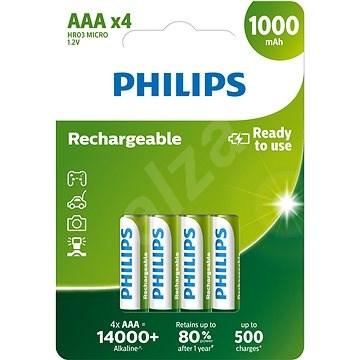 Philips R03B4RTU10 4 ks v balení - Nabíjecí baterie