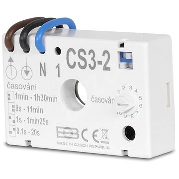 Elektrobock CS3-2 časový spínač pod vypínač - Časový spínač