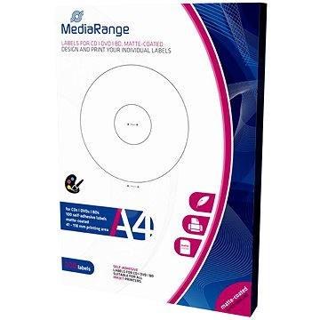 Mediarange CD/DVD/Blu-ray etikety 41 mm - 118 mm - Samolepka