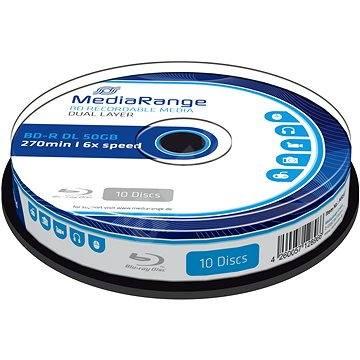 Mediarange BD-R BLU-RAY 50 GB 6x Dual Layer spindl 10 ks - Média