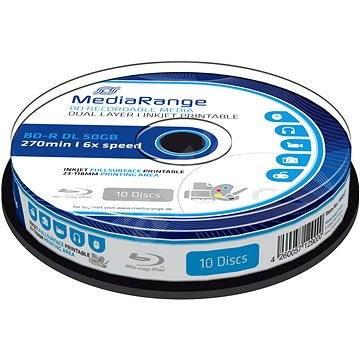 Mediarange BD-R BLU-RAY 50 GB 6x Dual Layer spindl 10 ks Inkjet Printable - Média