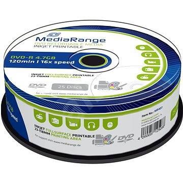 Mediarange DVD-R 4.7 GB 16x spindl 25 ks Inkjet Printable - Média