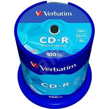 VERBATIM CD-R 700MB, 52x, spindle 100 ks - Média