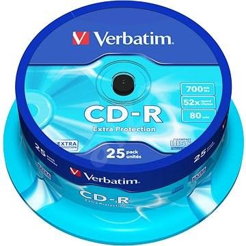 VERBATIM CD-R 700MB, 52x, spindle 25 ks - Média