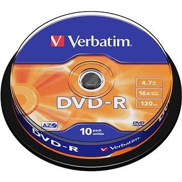 VERBATIM DVD-R AZO 4.7GB, 16x, spindle 10 ks - Média