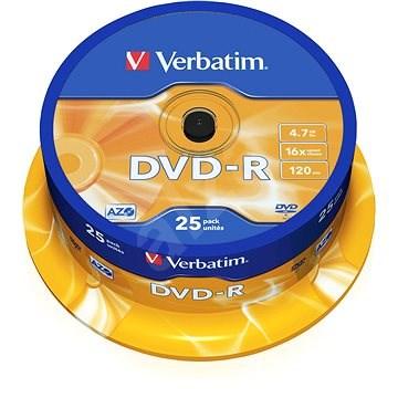VERBATIM DVD-R AZO 4.7GB, 16x, spindle 25 ks - Média