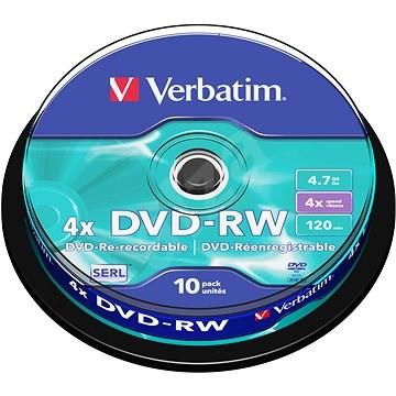 VERBATIM DVD-RW SERL 4.7GB, 4x, spindle 10 ks - Média