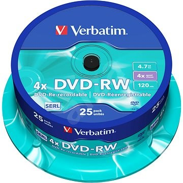 VERBATIM DVD-RW SERL 4.7GB, 4x, spindle 25 ks - Média