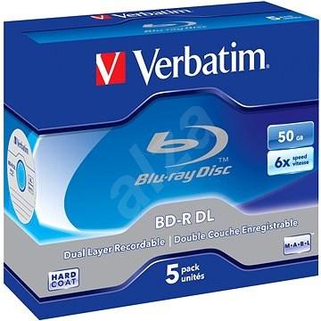 VERBATIM BD-R DL 50GB, 6x, jewel case 5 ks - Média
